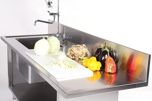 Mobili Cucina Professionale Acciaio.Realizzazione Cucine Inox Su Misura